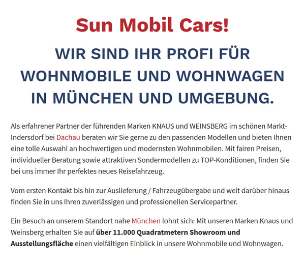 Wohnmobile kaufen in  Kissing